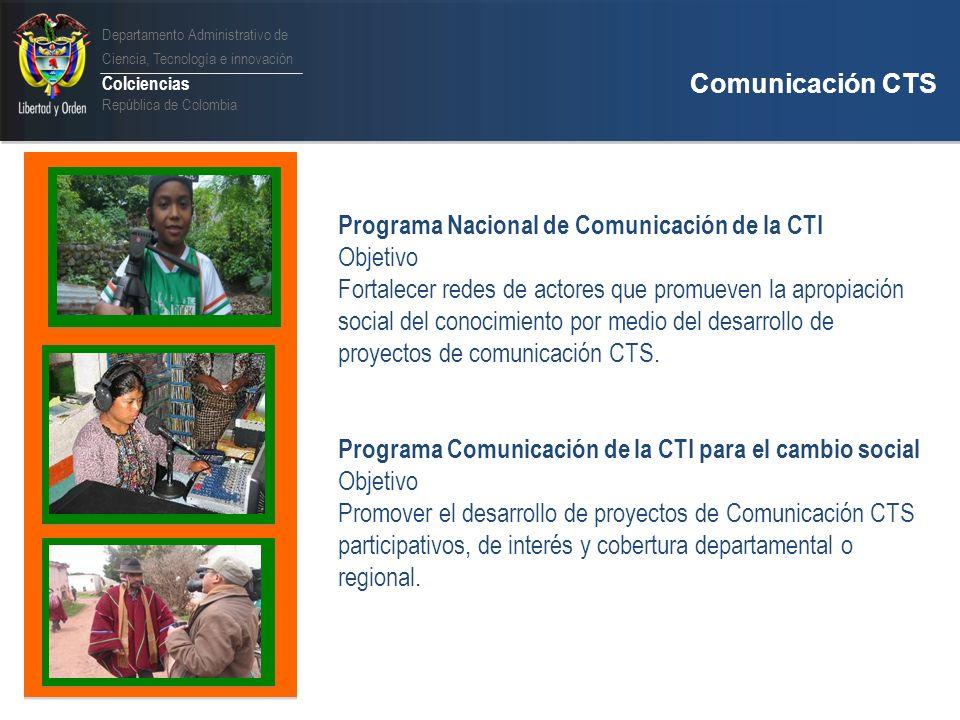 Programa Nacional de Comunicación de la CTI Objetivo