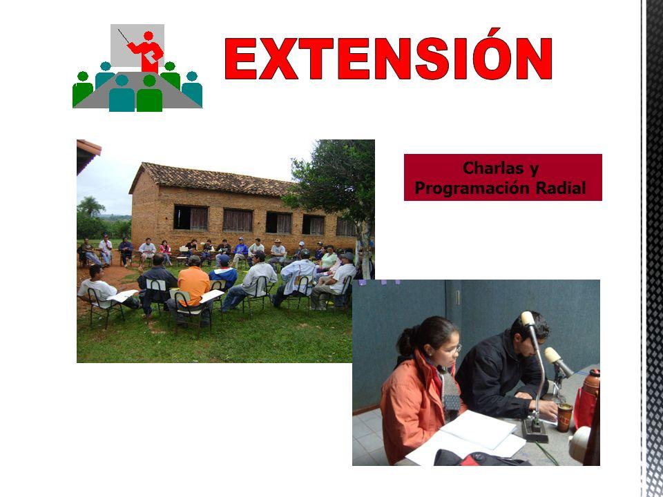 EXTENSIÓN Charlas y Programación Radial