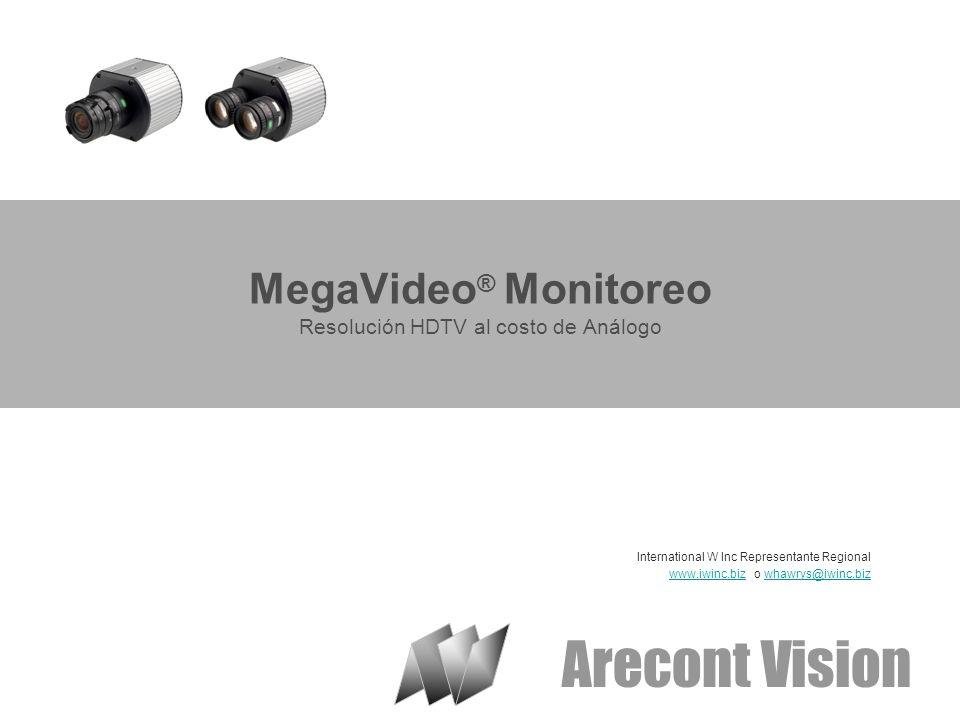 MegaVideo® Monitoreo Resolución HDTV al costo de Análogo