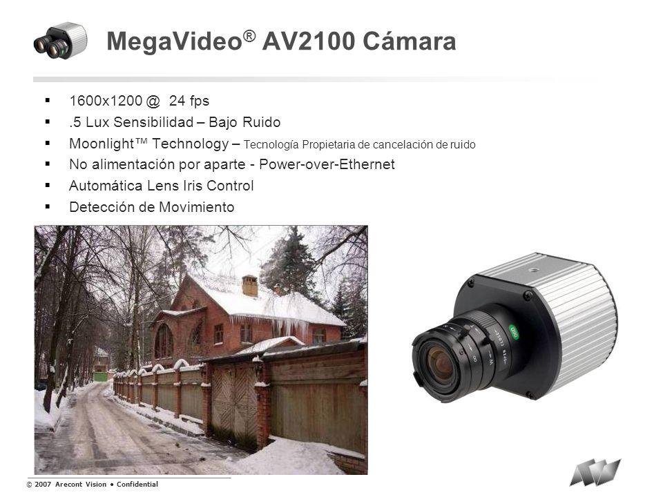 MegaVideo® AV2100 Cámara 1600x1200 @ 24 fps