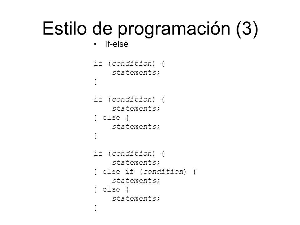 Estilo de programación (3)
