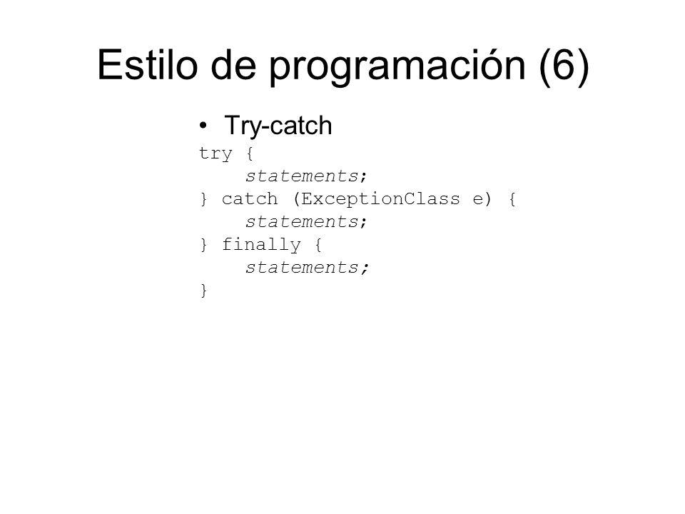 Estilo de programación (6)