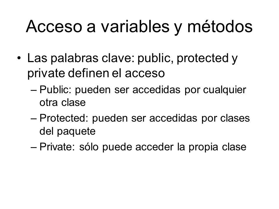 Acceso a variables y métodos
