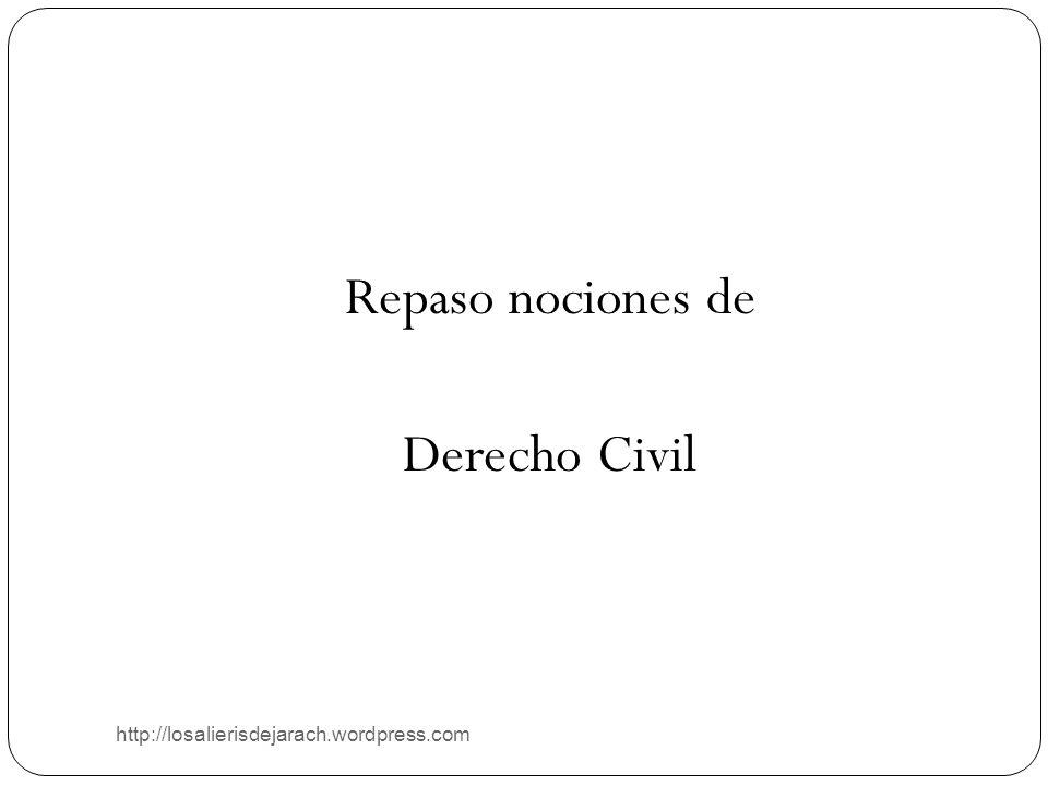 Repaso nociones de Derecho Civil