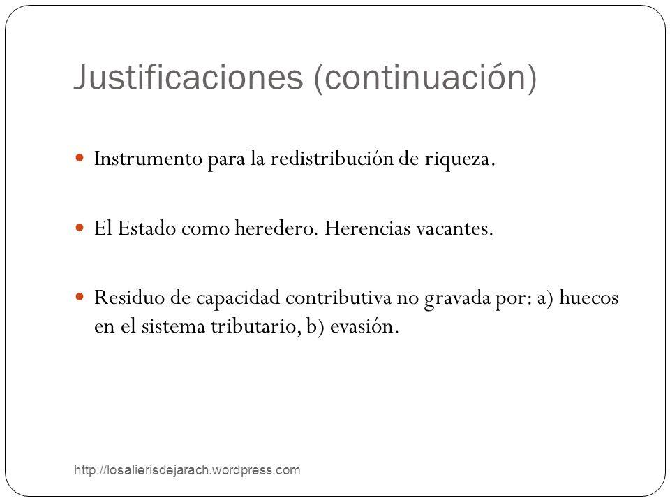 Justificaciones (continuación)