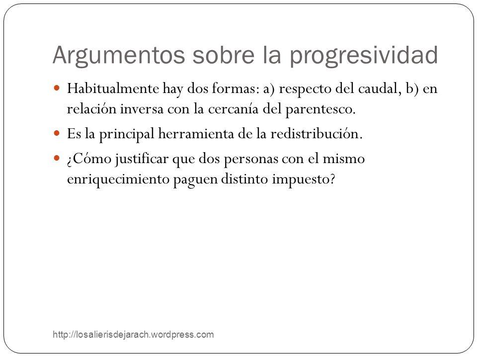 Argumentos sobre la progresividad