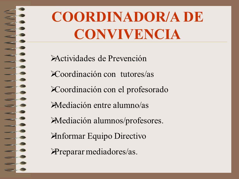 COORDINADOR/A DE CONVIVENCIA