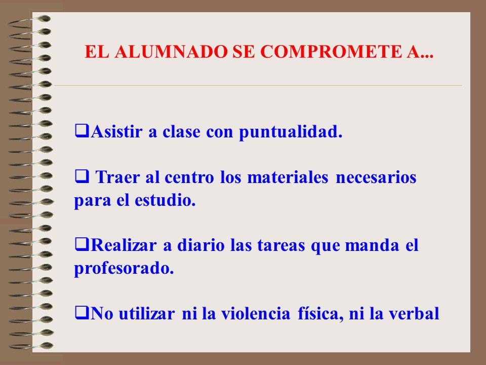 EL ALUMNADO SE COMPROMETE A...