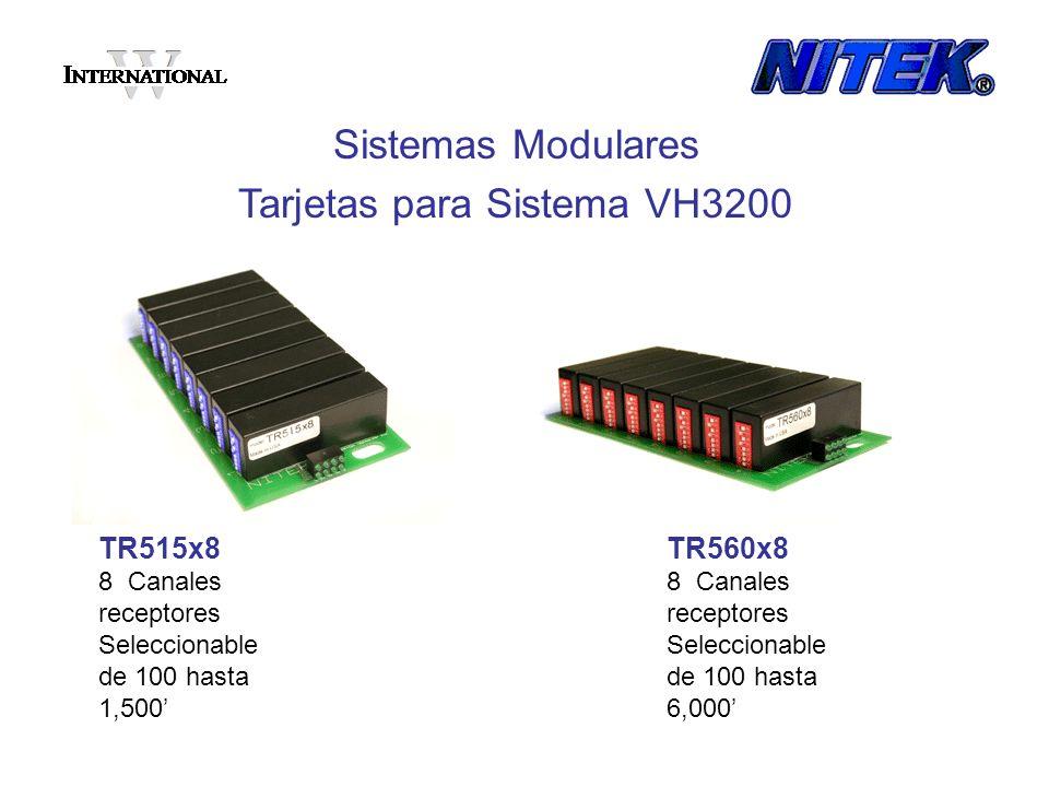 Tarjetas para Sistema VH3200