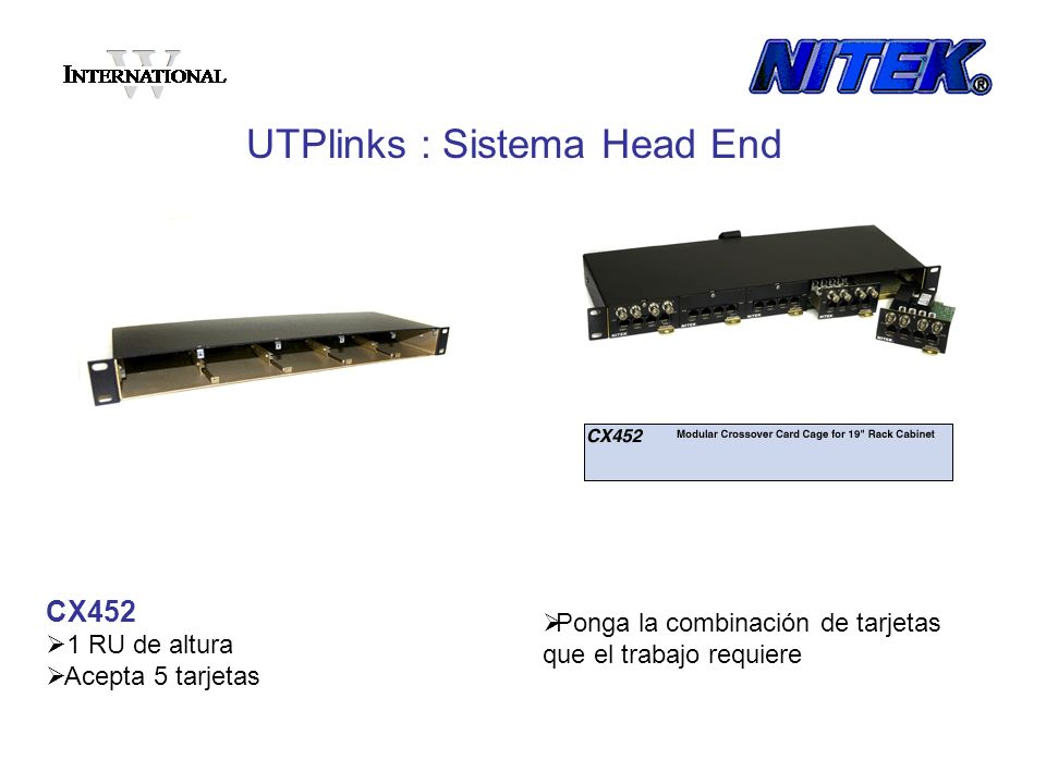 UTPlinks : Sistema Head End