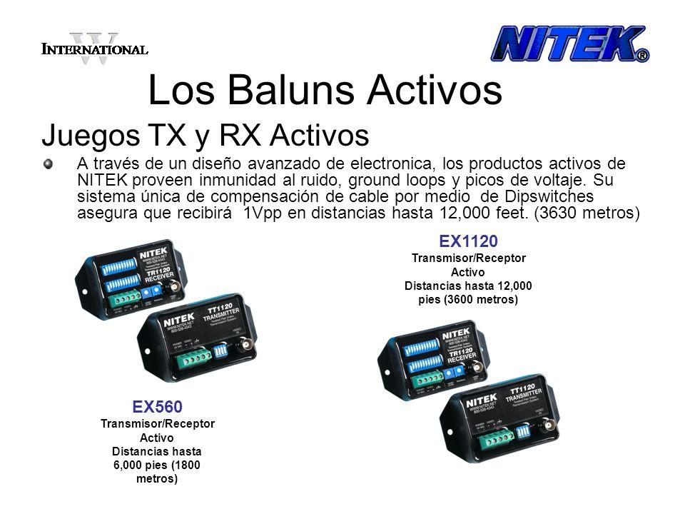 Los Baluns Activos Juegos TX y RX Activos