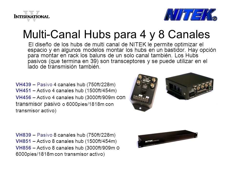 Multi-Canal Hubs para 4 y 8 Canales