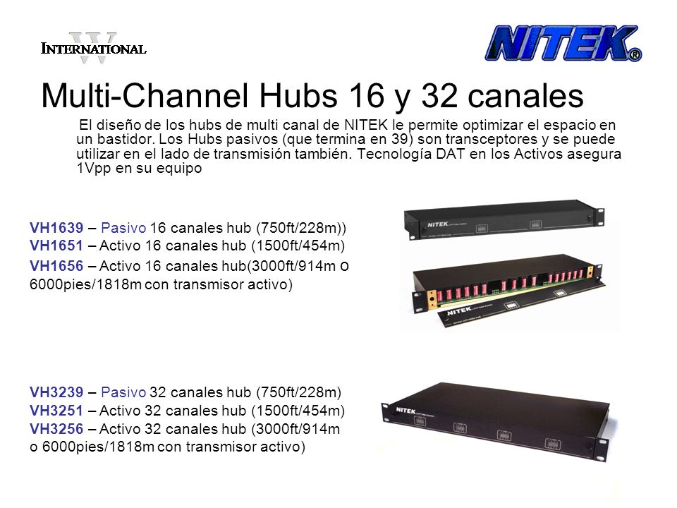 Multi-Channel Hubs 16 y 32 canales