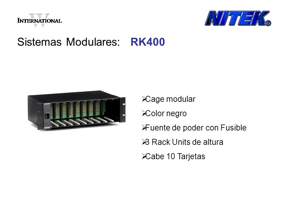 Sistemas Modulares: RK400