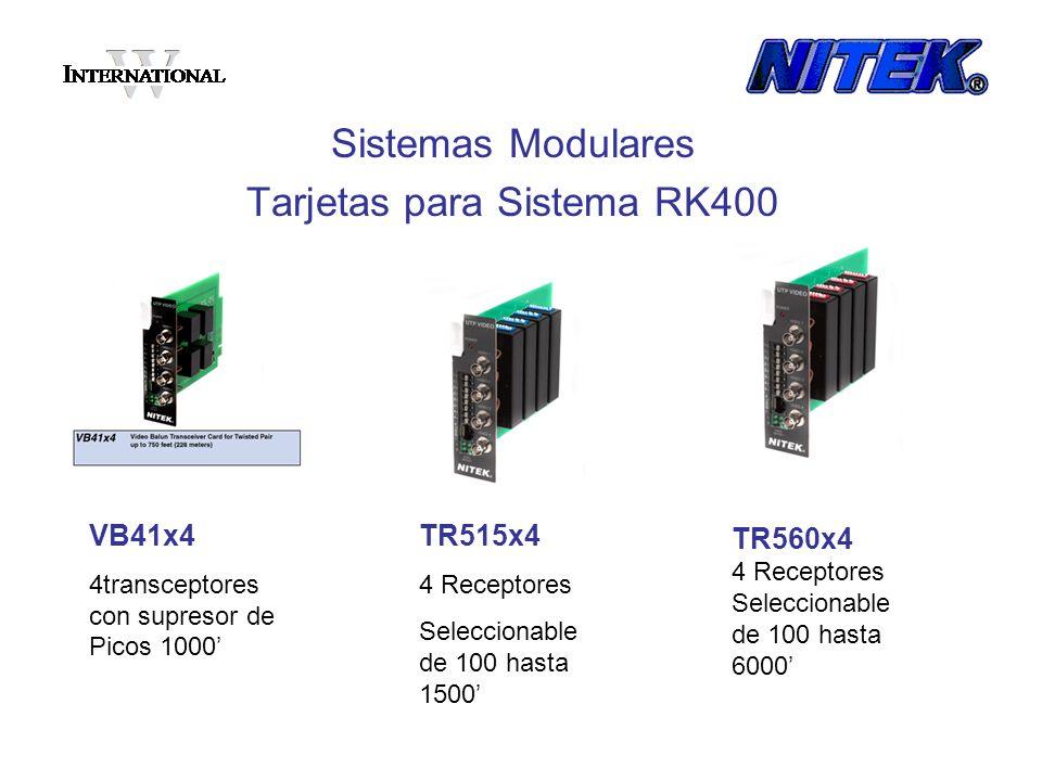 Tarjetas para Sistema RK400