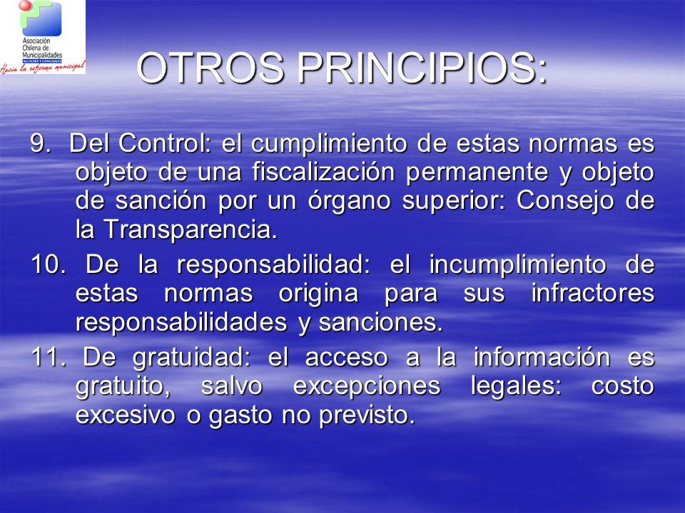 OTROS PRINCIPIOS: