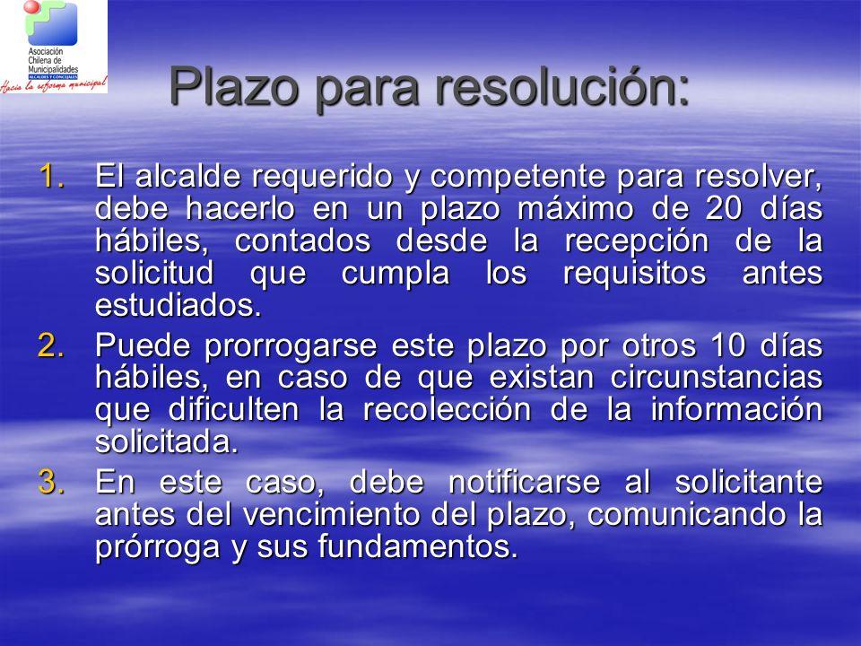 Plazo para resolución: