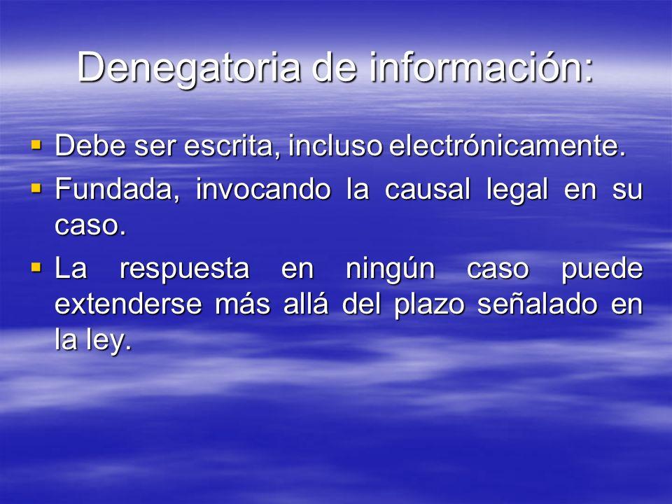 Denegatoria de información: