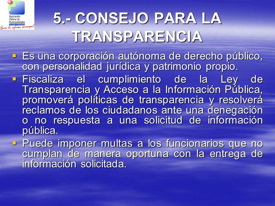 5.- CONSEJO PARA LA TRANSPARENCIA