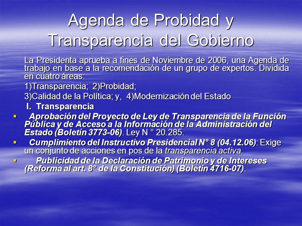 Agenda de Probidad y Transparencia del Gobierno