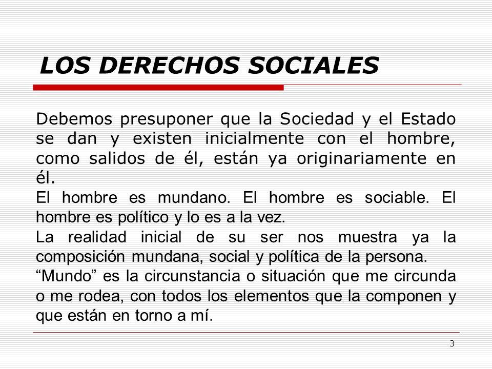 LOS DERECHOS SOCIALES