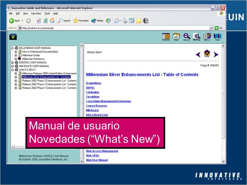 Manual de usuario Novedades ( What's New )
