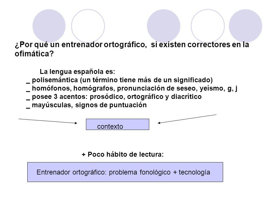 ¿Por qué un entrenador ortográfico, si existen correctores en la ofimática