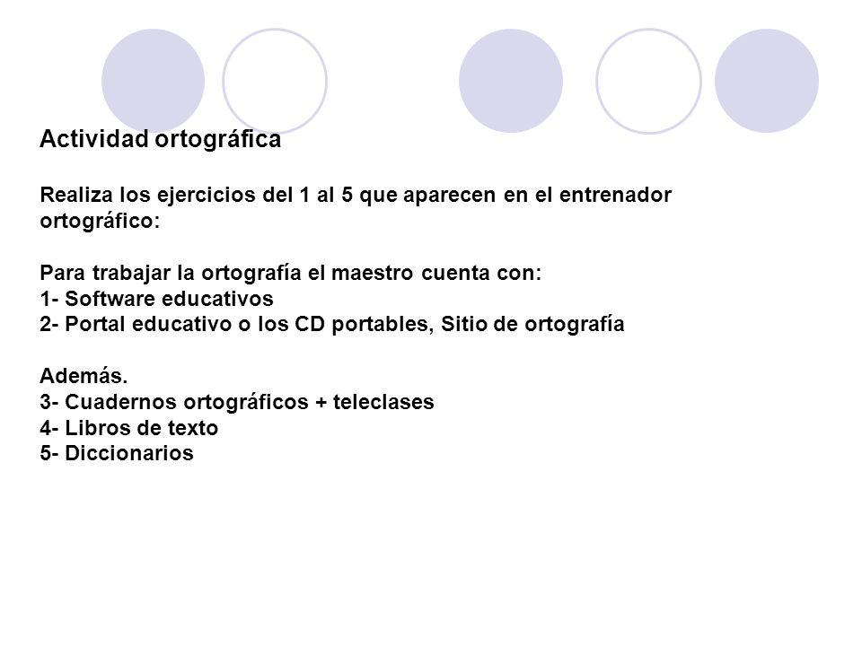 Actividad ortográfica