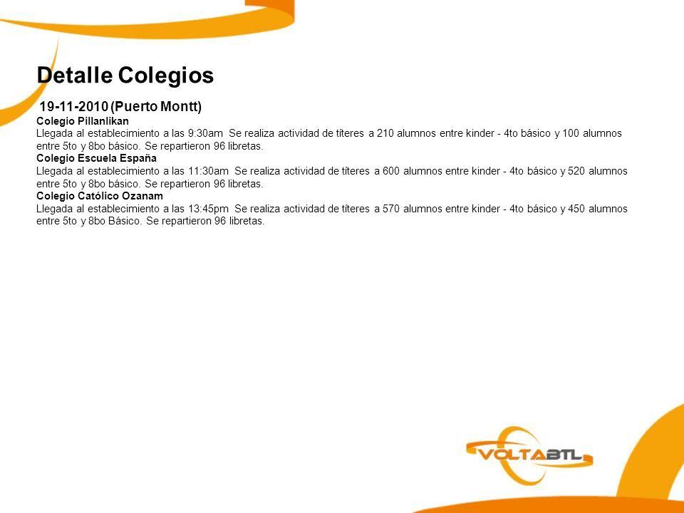 Detalle Colegios 19-11-2010 (Puerto Montt) Colegio Pillanlikan
