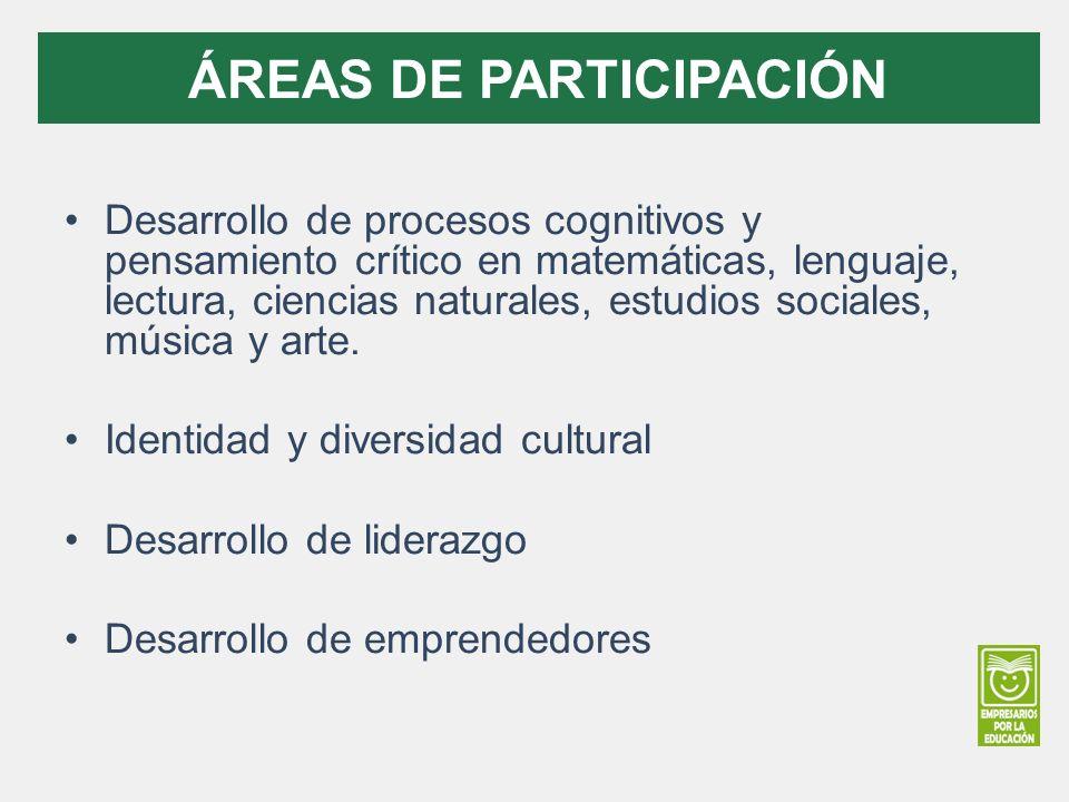 ÁREAS DE PARTICIPACIÓN