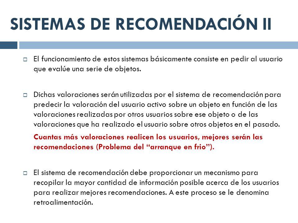 SISTEMAS DE RECOMENDACIÓN II