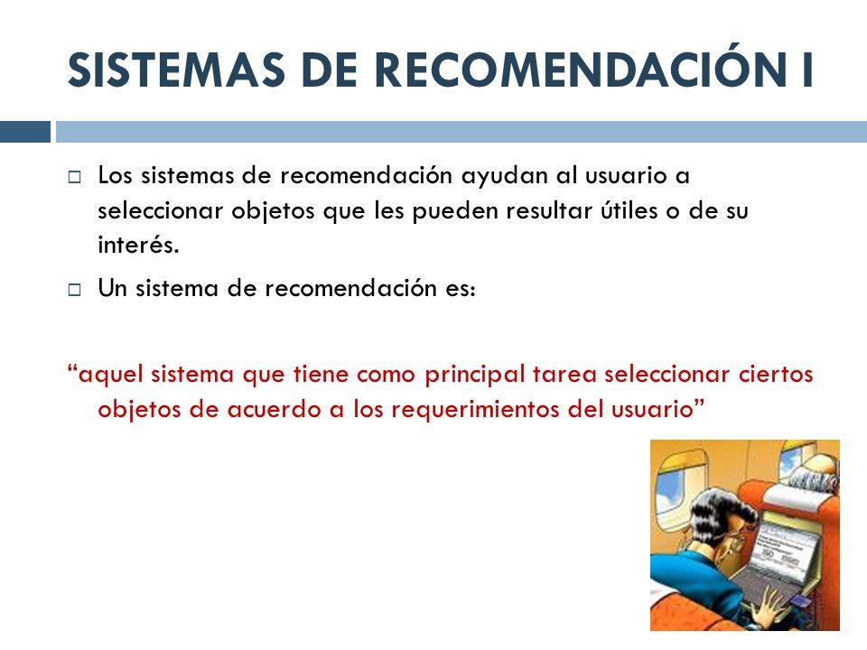 SISTEMAS DE RECOMENDACIÓN I