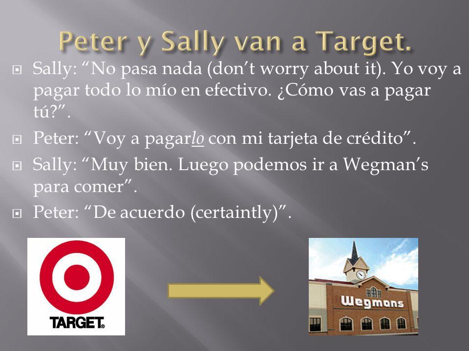 Peter y Sally van a Target.