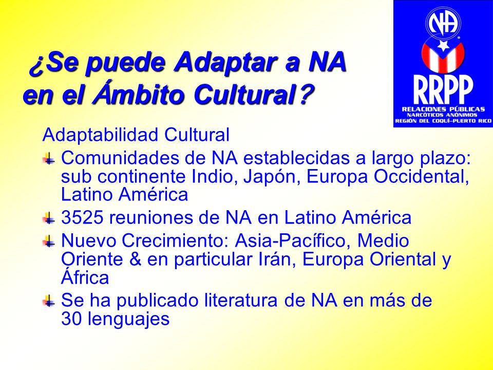 ¿Se puede Adaptar a NA en el Ámbito Cultural