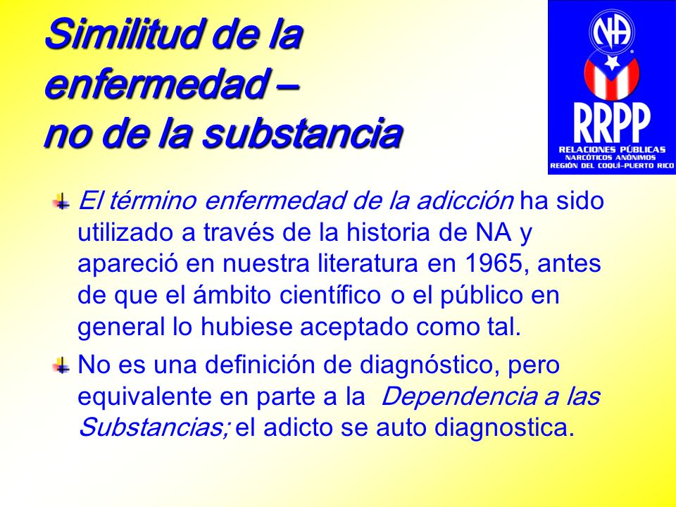 Similitud de la enfermedad – no de la substancia