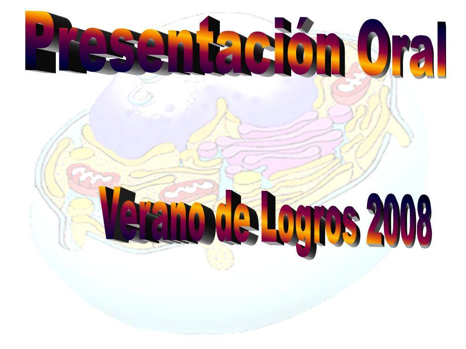 Presentación Oral Verano de Logros 2008