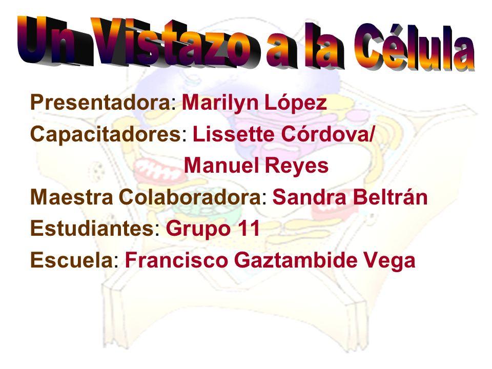 Presentadora: Marilyn López Capacitadores: Lissette Córdova/