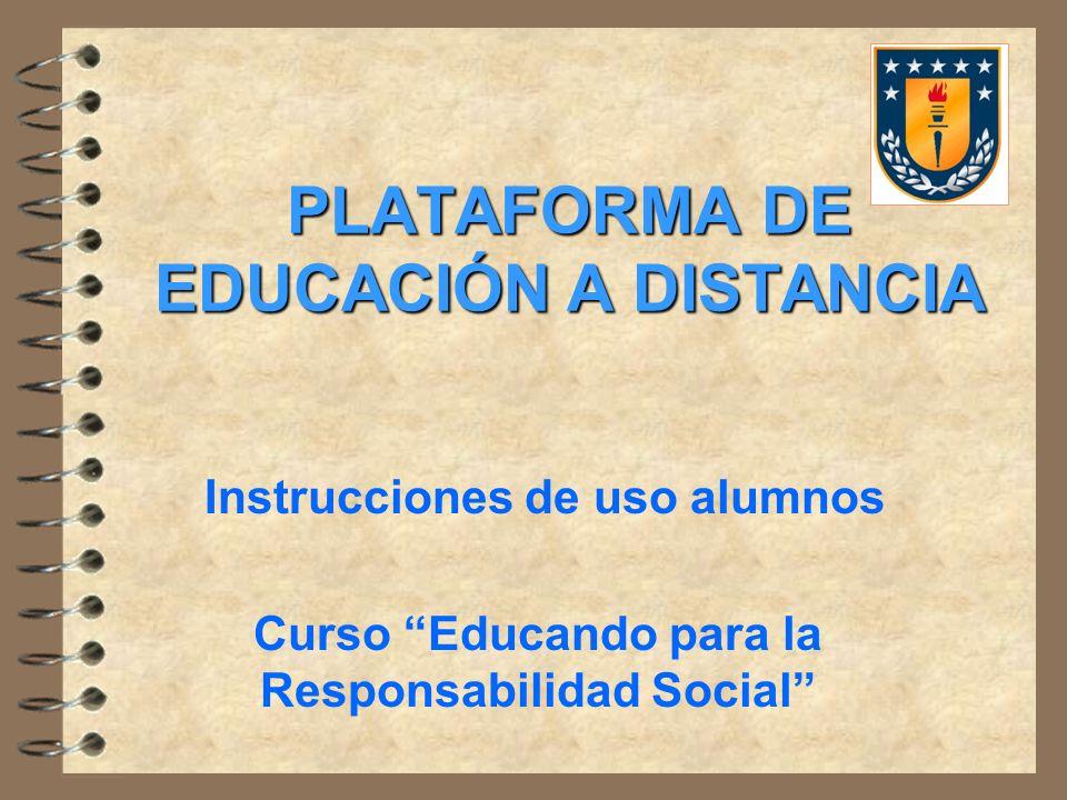 PLATAFORMA DE EDUCACIÓN A DISTANCIA