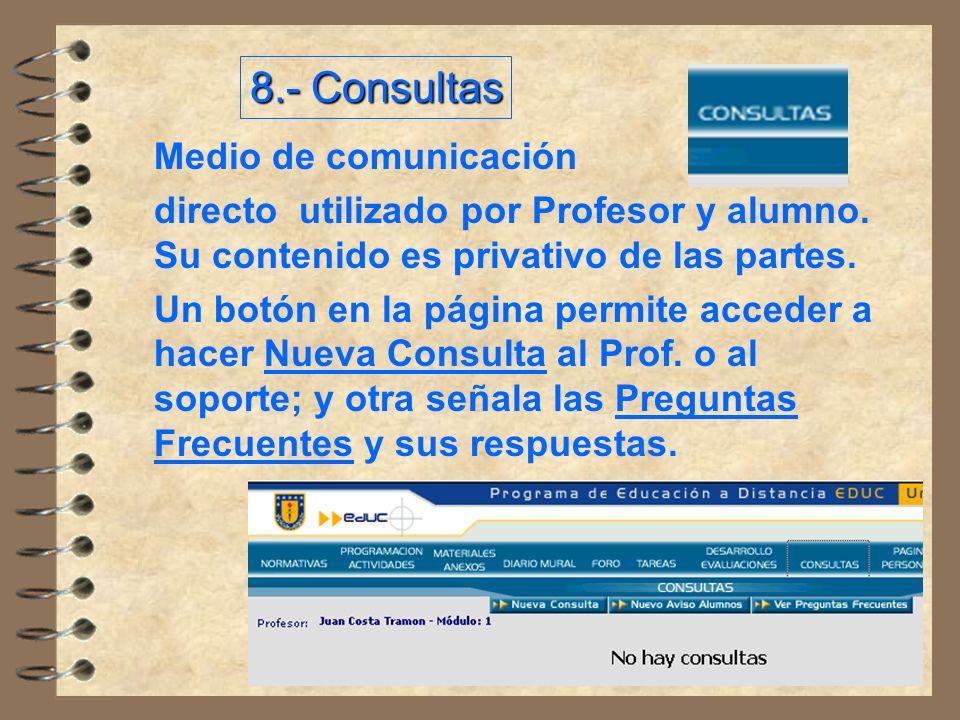 8.- Consultas Medio de comunicación