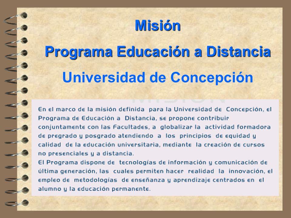 Programa Educación a Distancia Universidad de Concepción