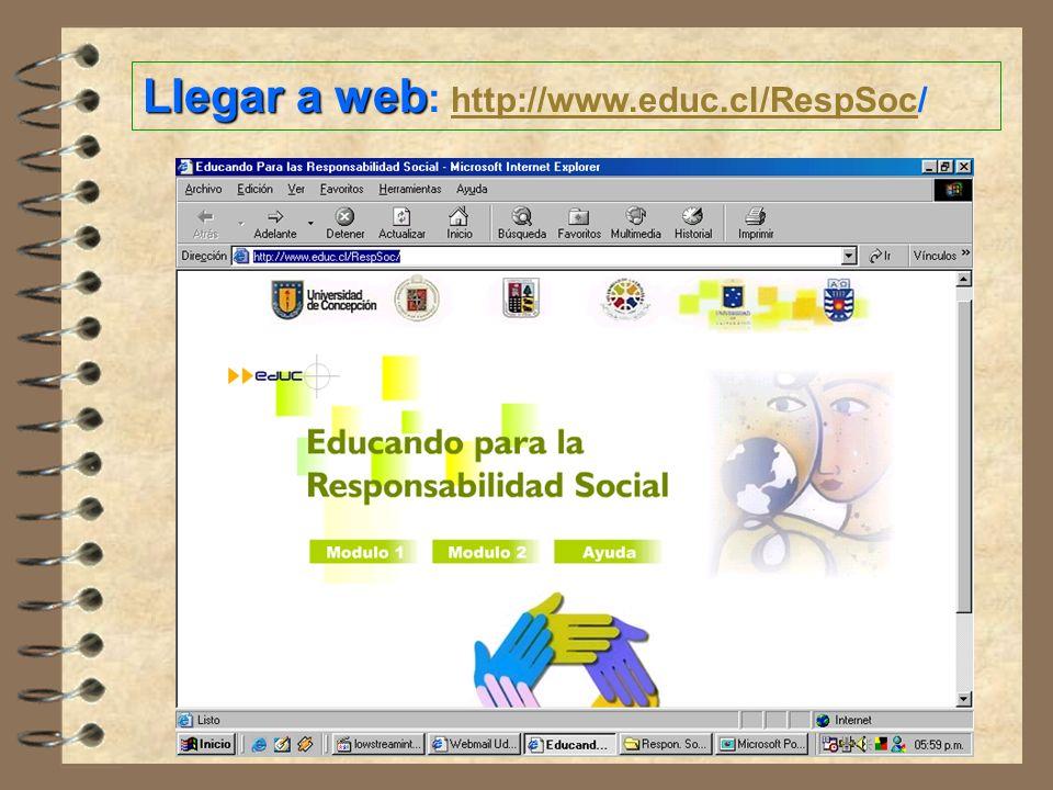 Llegar a web: http://www.educ.cl/RespSoc/