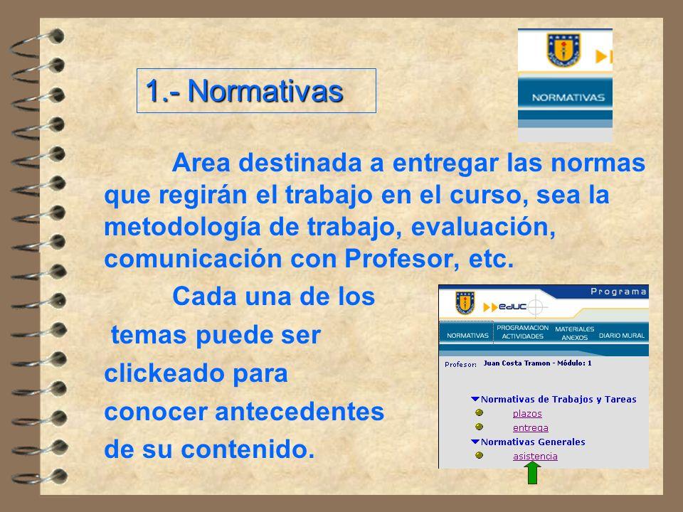 1.- Normativas