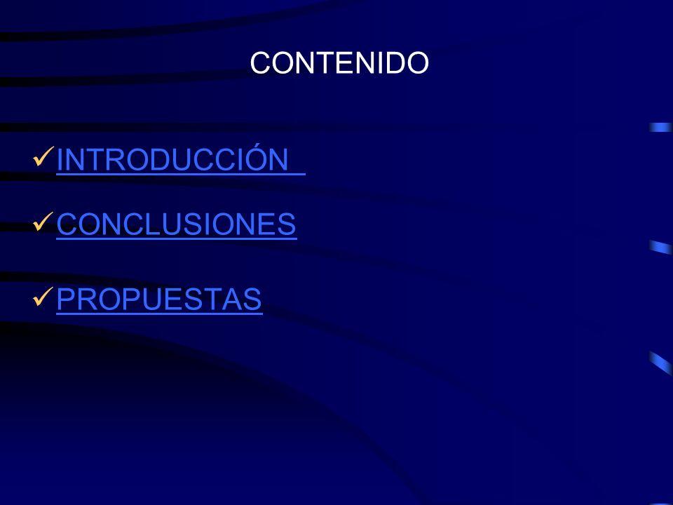 CONTENIDO INTRODUCCIÓN CONCLUSIONES PROPUESTAS