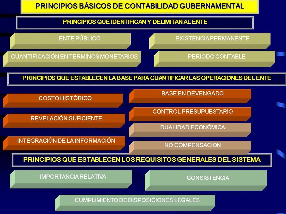 PRINCIPIOS BÁSICOS DE CONTABILIDAD GUBERNAMENTAL