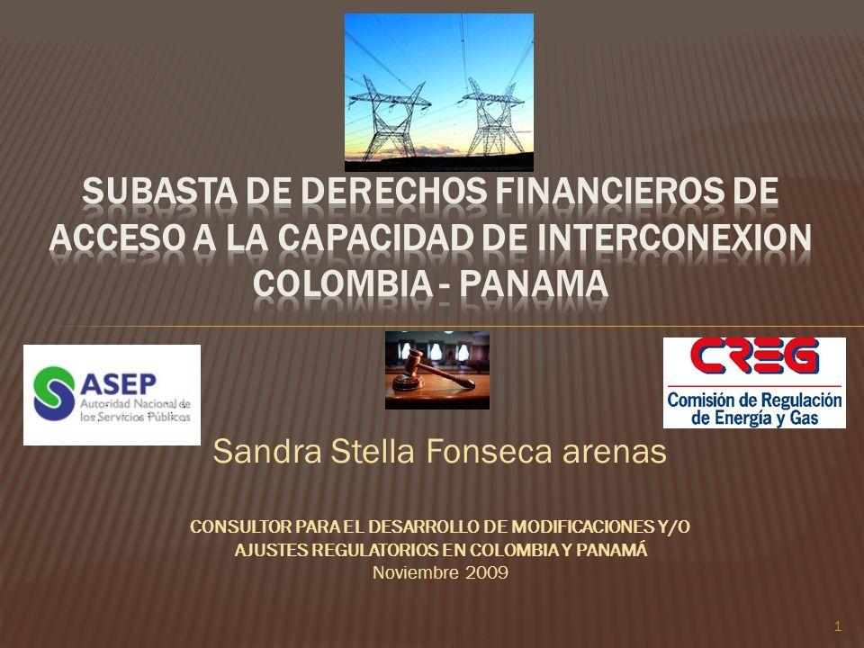 SUBASTA DE DERECHOS FINANCIEROS DE ACCESO A LA CAPACIDAD DE INTERCONEXION COLOMBIA - PANAMA