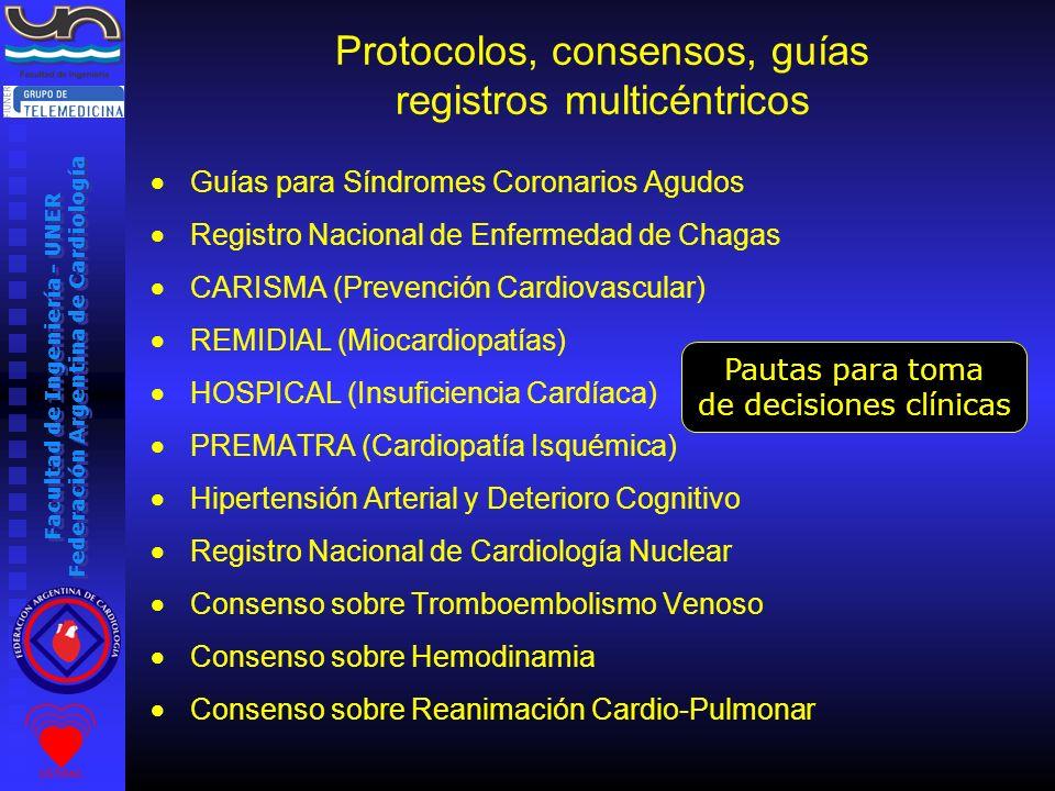 Protocolos, consensos, guías registros multicéntricos