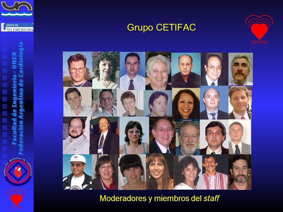 Moderadores y miembros del staff