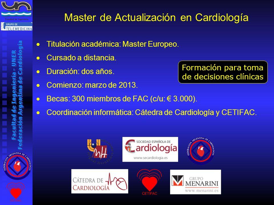Master de Actualización en Cardiología