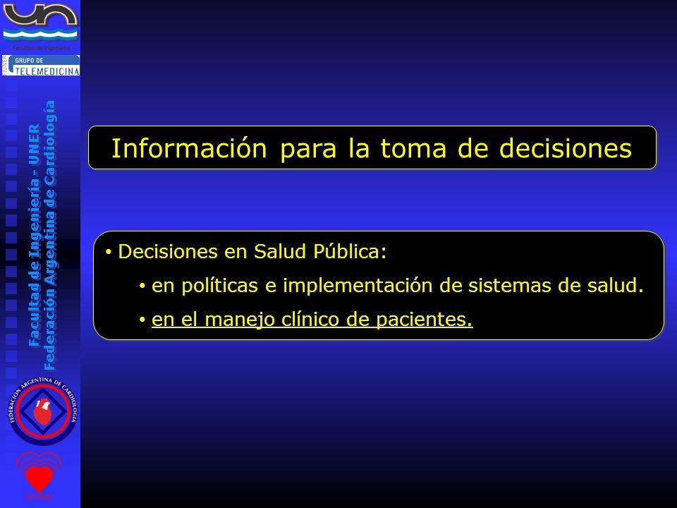Información para la toma de decisiones