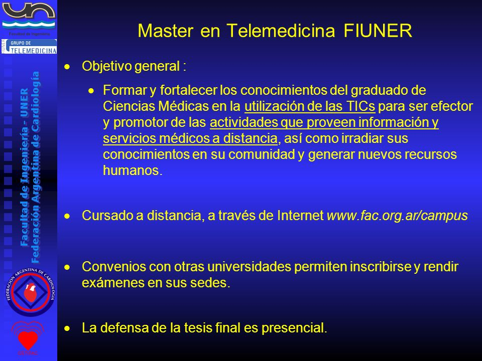 Master en Telemedicina FIUNER